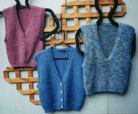 Maggies Rags Knitting Patterns Big Easy Vest