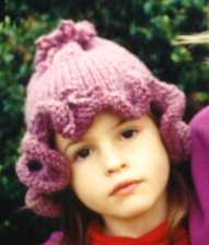 Maggie s Rags Free Knitting Patterns - Flower Hat dbf220a6607