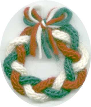 Maggie S Rags Free Knitting Patterns Christmas Wreath Ornament