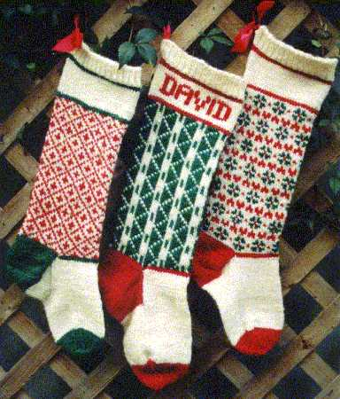 Knit Pattern Christmas Stocking : Maggies Rags Knitting Patterns: Christmas Stockings